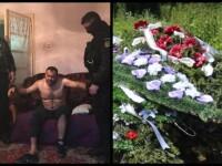 Mormântul lui Ionel Lepa, asasinul polițistului Cristian Amariei, acoperit de coroane