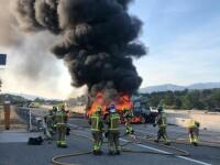 Șofer român de TIR ars de viu pe o autostradă din Spania. Ce s-a întâmplat