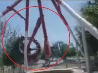 Moment șocant într-un parc de distracții, după ce un leagăn uriaș s-a prăbușit. VIDEO