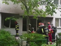 Explozie urmată de incendiu la un bloc din Iași. O persoană a fost rănită