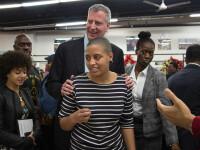 Fiica primarului New York-ului a fost arestată în timpul unui protest
