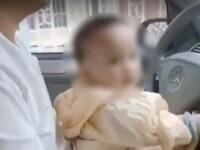 VIDEO. Un chinez și-a lăsat fetița de un an la volan. Cu ce sumă a fost amendat