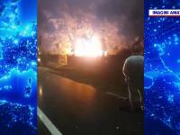 """O gospodărie a fost mistuită de flăcări după ce a fost lovită de trăsnet. """"A ars rău"""""""
