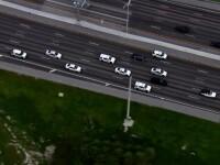 Șofer urmărit de 20 de mașini de poliție, pe autostradă. Ce făcuse bărbatul