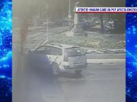 O mașină s-a izbit violent de tramvai. Ce a pățit șoferul și care a fost cauza accidentului
