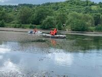 VIDEO. Tânăr căutat într-un lac din Sibiu. A căzut în timp ce se plimba cu bicicleta