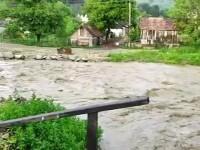 Dezastrul provocat de ploile torențiale. Locuințe, drumuri și culturi au fost inundate