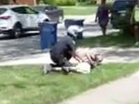 """VIDEO. Un curier, pus la pământ de un polițist din SUA. """"A parcat greșit"""""""