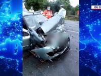 Accident tulburător în județul Cluj. Trei mașini au fost implicate, iar o persoană este grav rănită