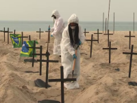 Peisaj macabru pe plaja Copacabana, din Brazilia. De ce a fost transformată în cimitir
