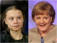 """Greta Thunberg: Angela Merkel a stat la coadă pentru a-și face o poză cu mine ca să """"arate bine"""""""