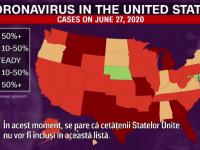 Cazurile de COVID-19 se înmulțesc alarmant în SUA. Tot mai mulți tineri se îmbolnăvesc
