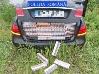 Ce a căzut din portbagajul mașinii unui șofer din Neamț, când a fost oprit de polițiști. FOTO