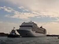 Primul vas de croazieră a plecat din Veneția după mai bine de un an. Localnicii au protestat vehement
