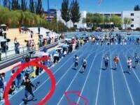 Cameramanul a alergat mai repede decât concurenții. Tânărul a devenit vedeta cursei
