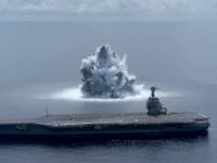 Marina SUA a testat un portavion și a provocat o explozie cu puterea unui cutremur cu magnitudinea 3,9