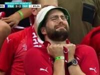 Retrospectiva meciului Franta- Elveția într-o singură poză. De la agonie la extaz în 90 de secunde