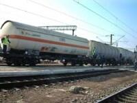 Pericol public! Scurgeri de acid clorhidric dintr-un vagon tren!