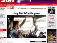 Tarzan de la volan, celebru in TheSun: Politistii din Europa, pe urmele lui