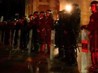 Bataie intre studenti si politisti in Barcelona!