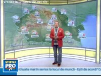 Prognoza meteo pentru urmatoarele trei zile
