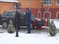 Presedintele Basescu, la un pas de accident la un centru NATO din Oradea