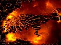 Imaginea Iadului. Vulcanul care ar putea inghiti un oras intreg. FOTO