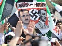Aproape 4000 de oameni au manifestat la Casa Alba pentru ca SUA sa opreasca masacrul din Siria