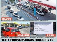 Panica in Marea Britanie. Soferii se bat pentru benzina, dupa ce guvernul a lansat un zvon alarmant