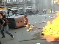 180 de oameni arestati si peste 100 de raniti, dupa greva generala din Spania