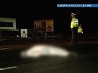 Accident cumplit pe DN59. Un barbat a fost calcat de doua masini si aruncat la aproape 20 de metri