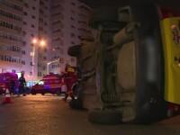 Accident ca in filme in Capitala, provocat de o masina plina de domnisoare. Ce reactie au avut cand au vazut ce s-a intamplat