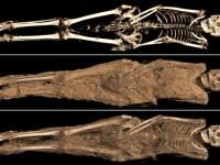 A fost descoperita o mumie de acum 1.300 de ani, cu un tatuaj intr-o zona intima