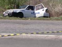 Trei politisti din Timisoara, la spital dupa ce s-au rasturnat cu masina. Un alt sofer i-a acrosat