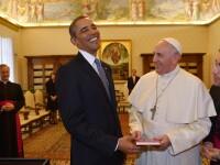 Papa Francisc l-a primit pe Barack Obama la Vatican. Cei doi s-au intalnit pentru prima data