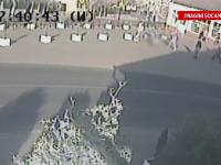 CAMERA DE SUPRAVEGHERE. Agentul unei firme de paza, in coma de gradul 3 dupa ce a fost batut de 8 indivizi