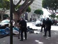 Politia din SUA a impuscat mortal un barbat fara adapost. Imaginile arata cum acesta este executat cu cinci focuri de arma