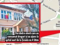 Autoritatile din Sibiu au descoperit trafic de droguri la o scoala din apropierea casei lui Iohannis