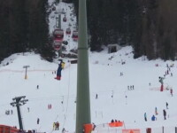 Operatiune de salvare a 184 de schiori blocati intr-o telegondola, in Italia, dupa ce un copac s-a prabusit peste cabluri