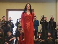 Concurs de Miss in tabara separatistilor din Donetk. Femeile soldat au renuntat la bocanci pentru pantofii de lac