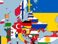 Harta Europei in functie de minoritati. Romanii sunt principala minoritate in patru state