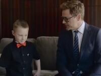 Robert Downey Jr i-a facut viata mai frumoasa unui copil infirm, mare fan al filmelor cu