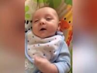 Bebelusul din Irlanda care a invatat sa vorbeasca la 7 saptamani. Clipul a strans peste 2 milioane de vizualizari pe YouTube
