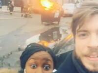 Doi angajati Apple au vrut sa-si faca un selfie in fata unui incendiu, dar pompierii le-au stricat planurile. VIDEO