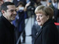 Intalnirea dintre Merkel si Tsipras s-a incheiat fara un anunt concret. Cancelarul: Germania trateaza egal tarile UE