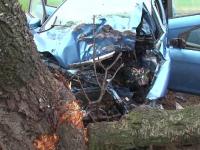 Tragedie in Tulcea. O femeie a murit dupa ce sotul ei a adormit la volan si a intrat intr-un copac, la cativa km de casa