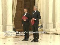 Teodorovici si Nica au depus juramantul la Cotroceni ca ministri la Finante si Fonduri Europene. Reactia lui Basescu