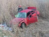 Accident grav la Cluj. Tanarul care se afla la volan nu avea nici macar permis de conducere