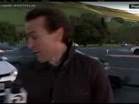Un reporter american era sa moara in direct, dupa ce o soferita a confundat frana cu pedala de acceleratie. Cine l-a salvat