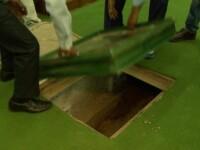 A gasit un tunel vechi sub cladirea guvernului si a coborat inauntru. Secretul macabru descoperit in pasaj